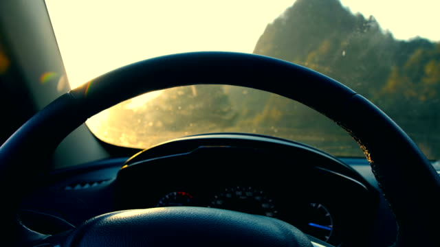 driving car - steering wheel stock videos & royalty-free footage
