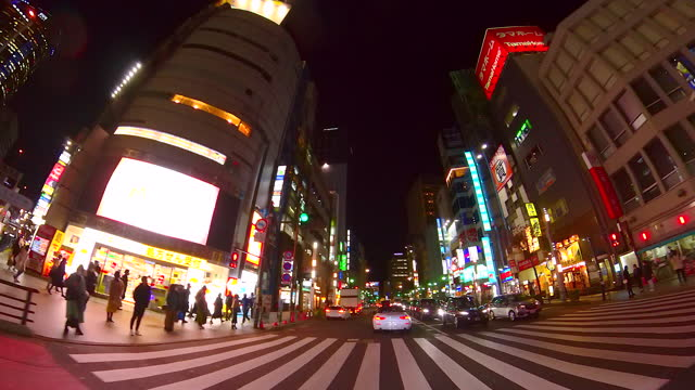driving city street at night. roppongi, tokyo - plusphoto stock videos & royalty-free footage