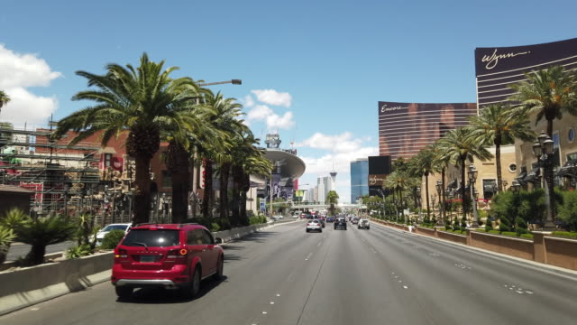 driving dolly shot of las vegas - dolly shot stock videos & royalty-free footage
