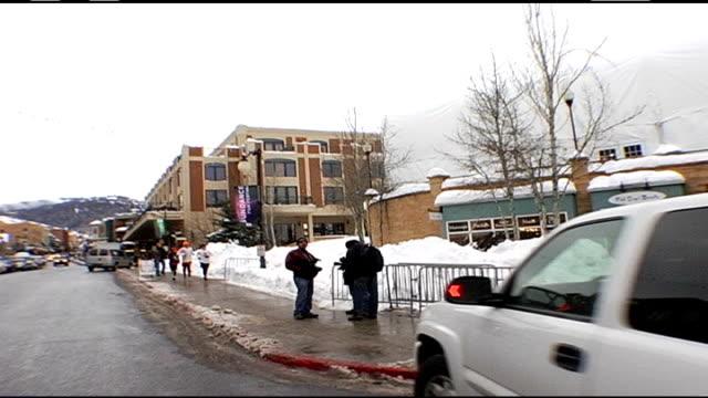 POV of Driving Down Aspen Street During Sundance