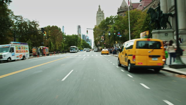 Driving Down Central Park West, Manhattan