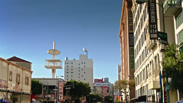 driving down los angeles st in the dtla fashion district - los angeles county stock-videos und b-roll-filmmaterial