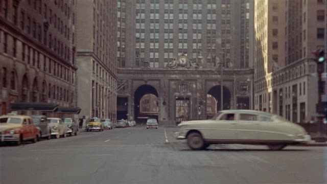 ws rear pov driving down park avenue / new york city, new york, usa - 1962 stock videos & royalty-free footage