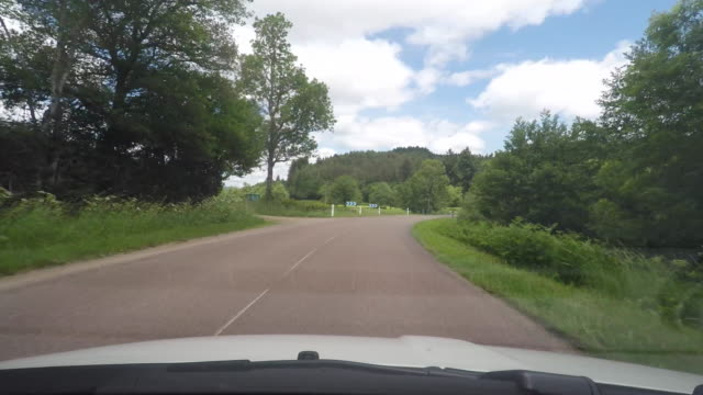 pov driving down rural road - front view stock videos & royalty-free footage