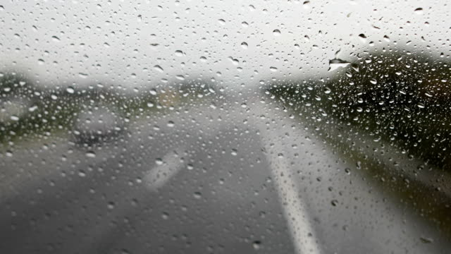 driving during rain - windscreen stock videos & royalty-free footage