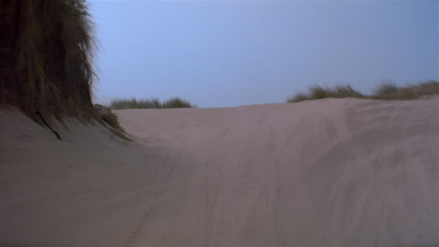 pov, driving fast through sand dunes, california, usa - dune buggy stock videos and b-roll footage