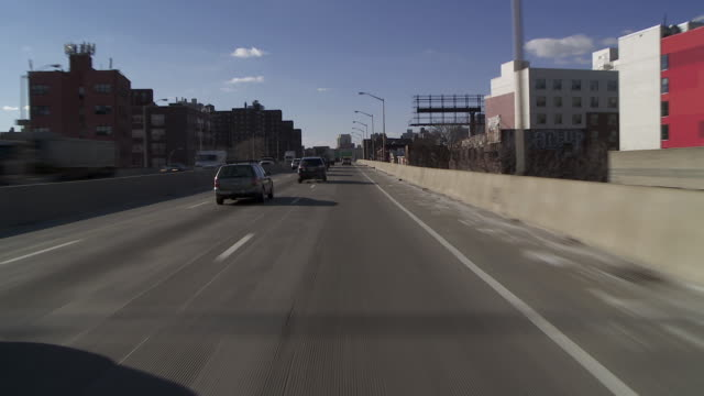 driving forward pov on the bqe brookyn queens expressway in new york. - queens new york city stock videos and b-roll footage