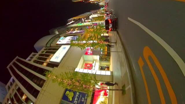 driving ginza street at night, tokyo, japan. roll. - plusphoto stock videos & royalty-free footage