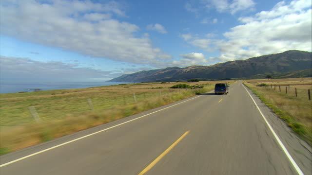 POV Driving Highway U.S. 1, Gorda, California, USA
