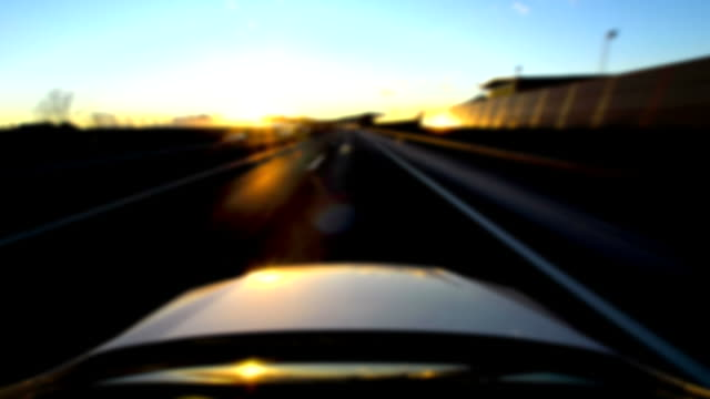 hd timelapse: driving home - digital enhancement stock videos & royalty-free footage