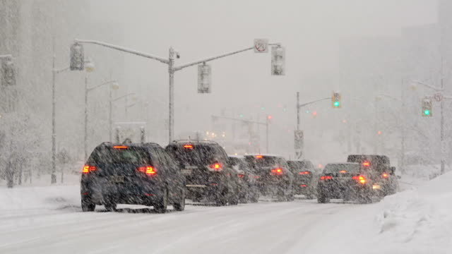driving in a snow storm - ottawa stock videos & royalty-free footage