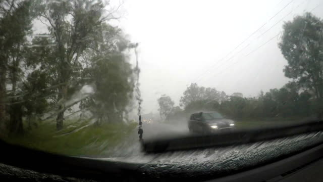 driving in a storm - traffic accident stock videos & royalty-free footage