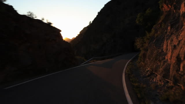 driving in a stunning mountain road in the pyrenees. - catalogna video stock e b–roll