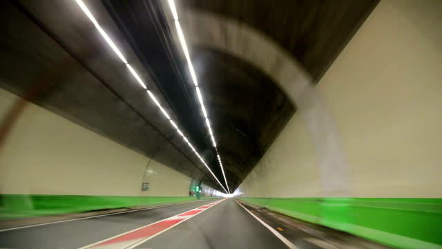Driving in a tunnel