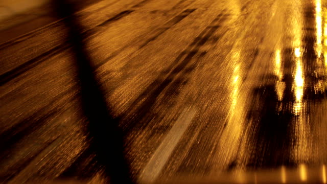 driving in bad weather.ice and snow on the road - dentro video stock e b–roll