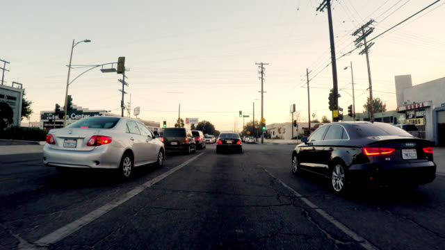 pov driving in burbank - burbank stock videos & royalty-free footage