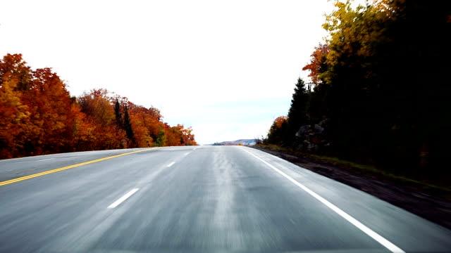 Driving in Canada on board camera
