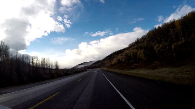 driving in canada pov - driver's seat stock videos and b-roll footage