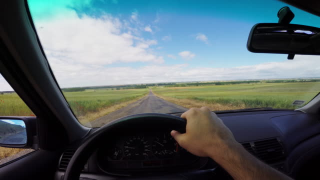 POV driving in country road