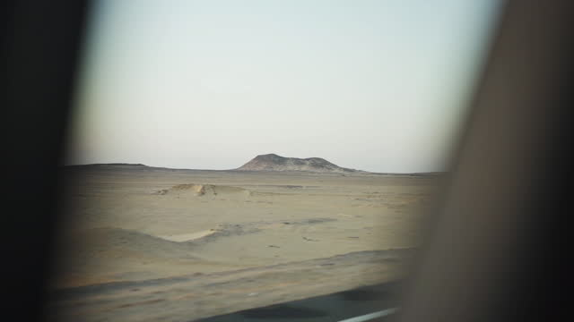 pov driving in desert egypt - middle east stock videos & royalty-free footage