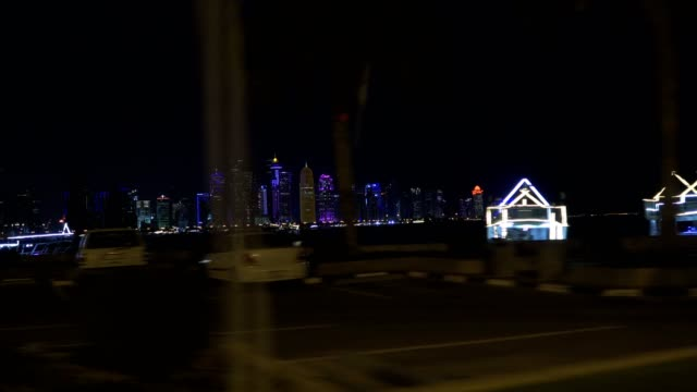 driving in doha, qatar - doha stock videos & royalty-free footage