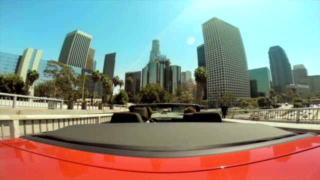 WS POV Driving In Downtown Los Angeles