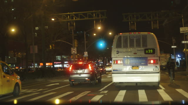 Driving in New York City, point of view shot