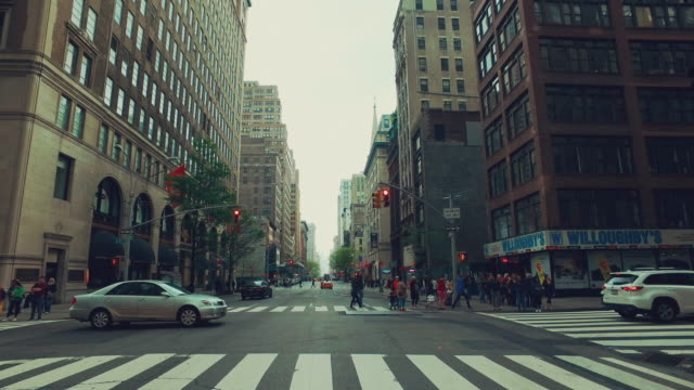 driving in new york city - manhattan new york city stock videos & royalty-free footage