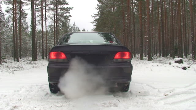 driving in snow - tail light stock videos & royalty-free footage