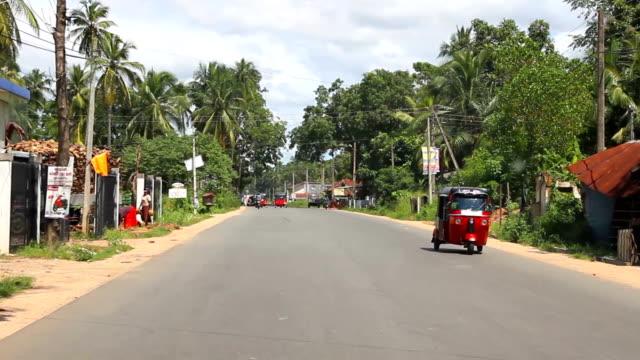 Driving in Sri Lanka rural areas