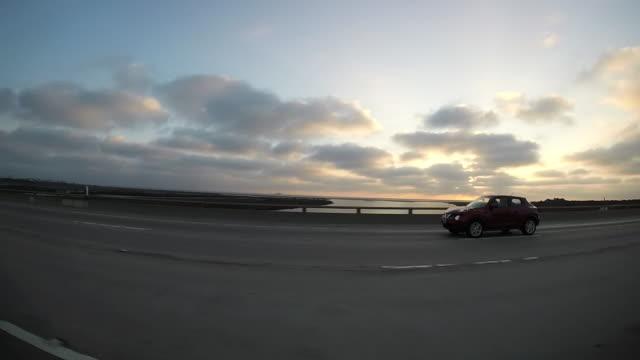 Driving in LA, sunset