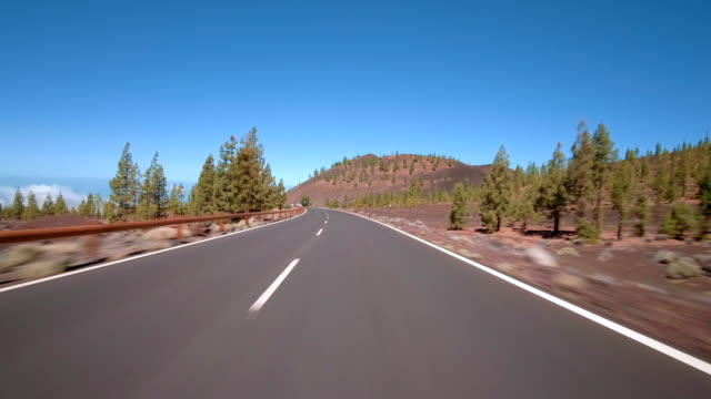 Driving in Teide National Park