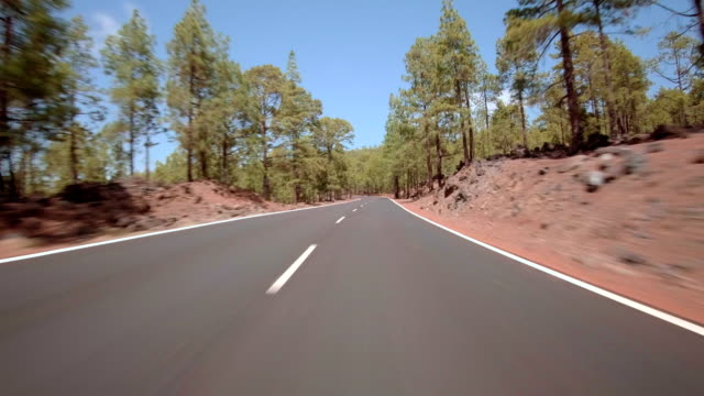 driving in teide national park - steil stock-videos und b-roll-filmmaterial