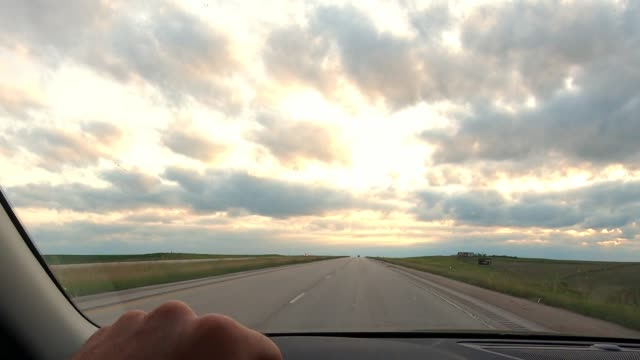 driving in the badlands - midwest usa stock videos & royalty-free footage