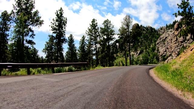 driving in the black hills in south dakota - south dakota stock videos & royalty-free footage