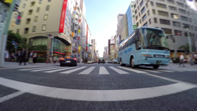 driving in the city -ginza -4k- - ginza stock videos & royalty-free footage
