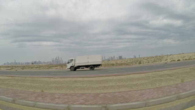 Driving in the desert near Dubai
