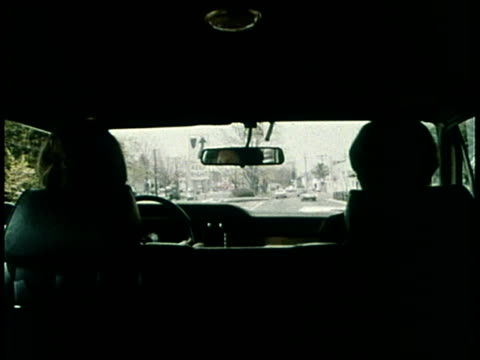 1977 montage driving in the family car / united states - back seat stock videos and b-roll footage