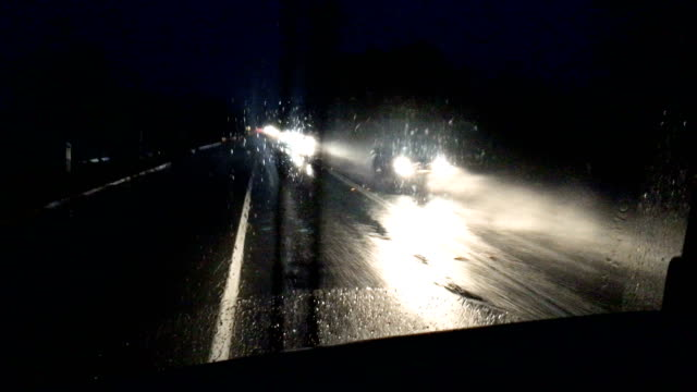 driving in the rain at night - danger stock videos & royalty-free footage