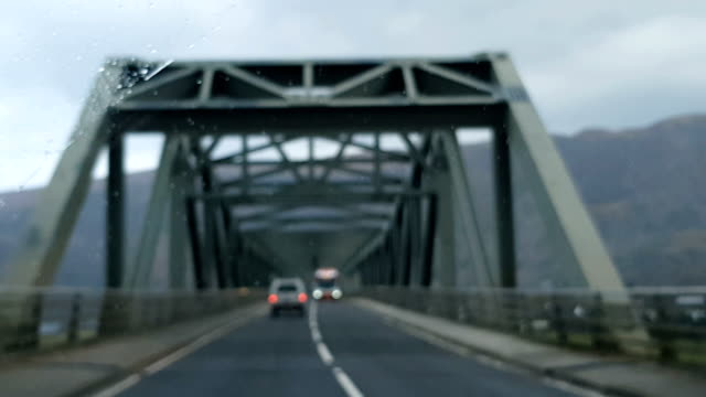 driving in the rain, scotland, uk - windscreen stock videos & royalty-free footage