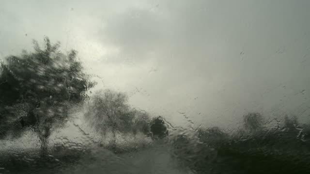 POV Driving In The Rain