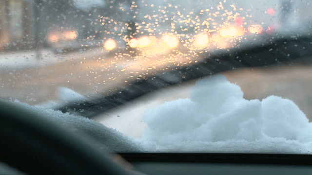 hd: driving in the snow - selective focus stock videos & royalty-free footage