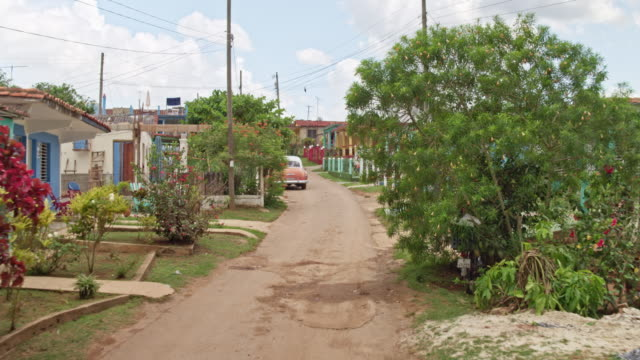 Driving in the streets of Viñales, Cuba