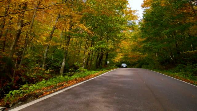 Fahren im Herbst Vermont
