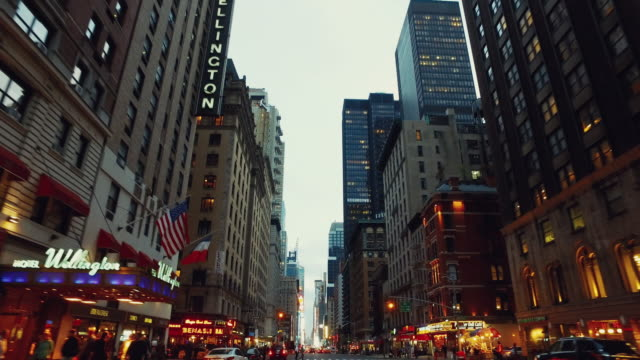 pov driving in times square, new york city - car point of view stock videos and b-roll footage