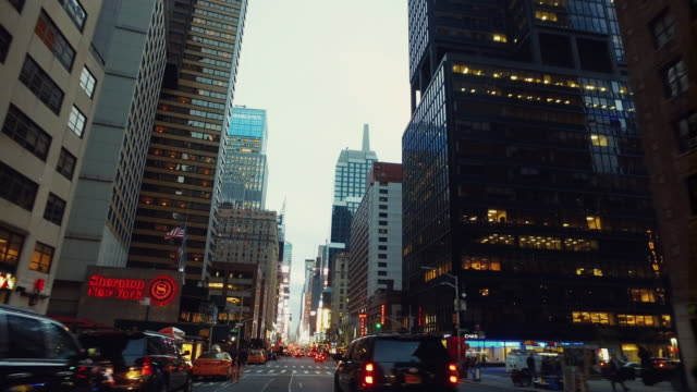 POV Driving in Times Square, new York City