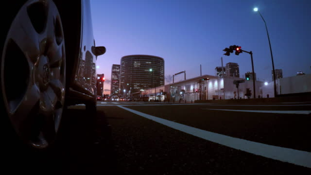 Driving in town at night -4K-