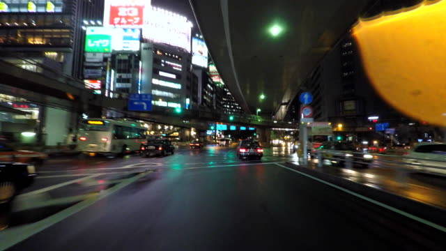 お車で街の夜景-4 K