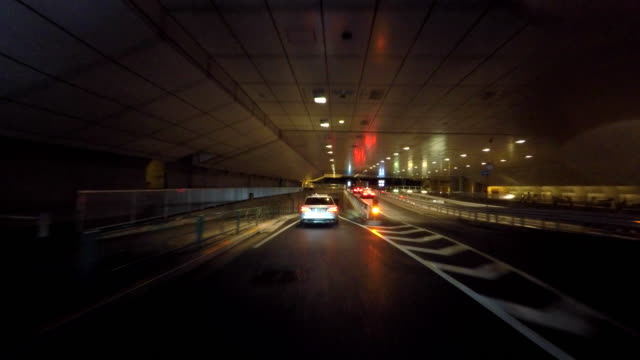 driving in town at rainy night -4k- - underpass stock videos and b-roll footage