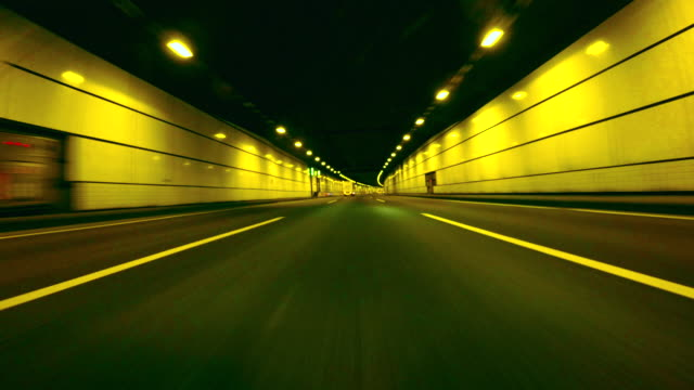 driving in tunnel -4k- - driving stock videos & royalty-free footage